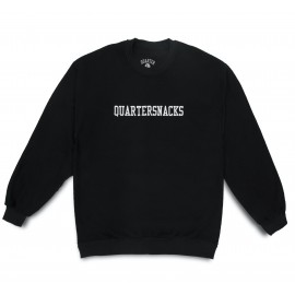 Quartersnacks Quartersnacks Inside Out Embroidery crew black