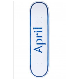 April skateboards April OG Logo deck white blue 8.25""