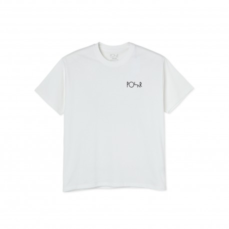Polar Polar Moth House Fill Logo tee S/S white