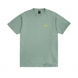 Dime Mtl Dime Embroidered Classic Logo tee S/S green