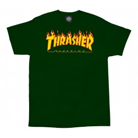 Thrasher Thrasher Flame tee S/S forest green