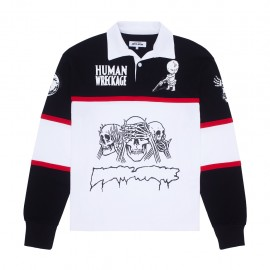 Fucking Awesome Fucking Awesome Sponsored Rugby shirt white black