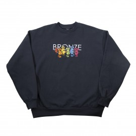 Bronze 56K Bronze Bolt Boys Embroidery crew navy