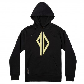 Piss Drunx Logo Embroidery hoodie black gold