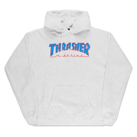 Thrasher Thrasher Outlined hoodie ash grey