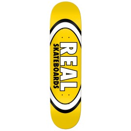 """Real Real Team Classic Oval deck yellow 8.06"""""""
