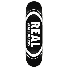 """Real Real Team Classic Oval deck black 8.25"""""""