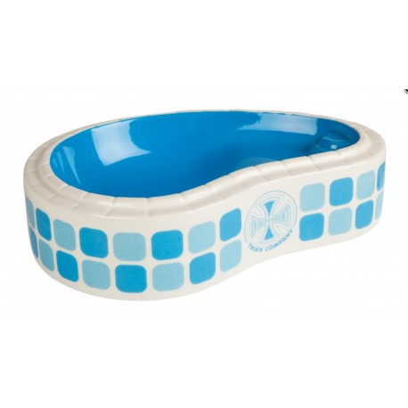 Independent Independent Tile Cross Pool ashtray blue white