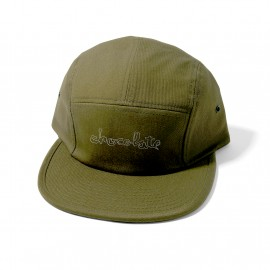 Chocolate Chocolate Outline Camper cap olive