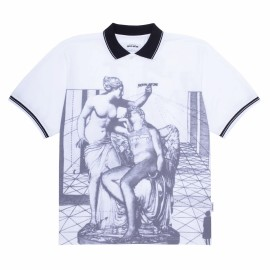 Fucking Awesome Fucking Awesome Perspective Statue polo white black