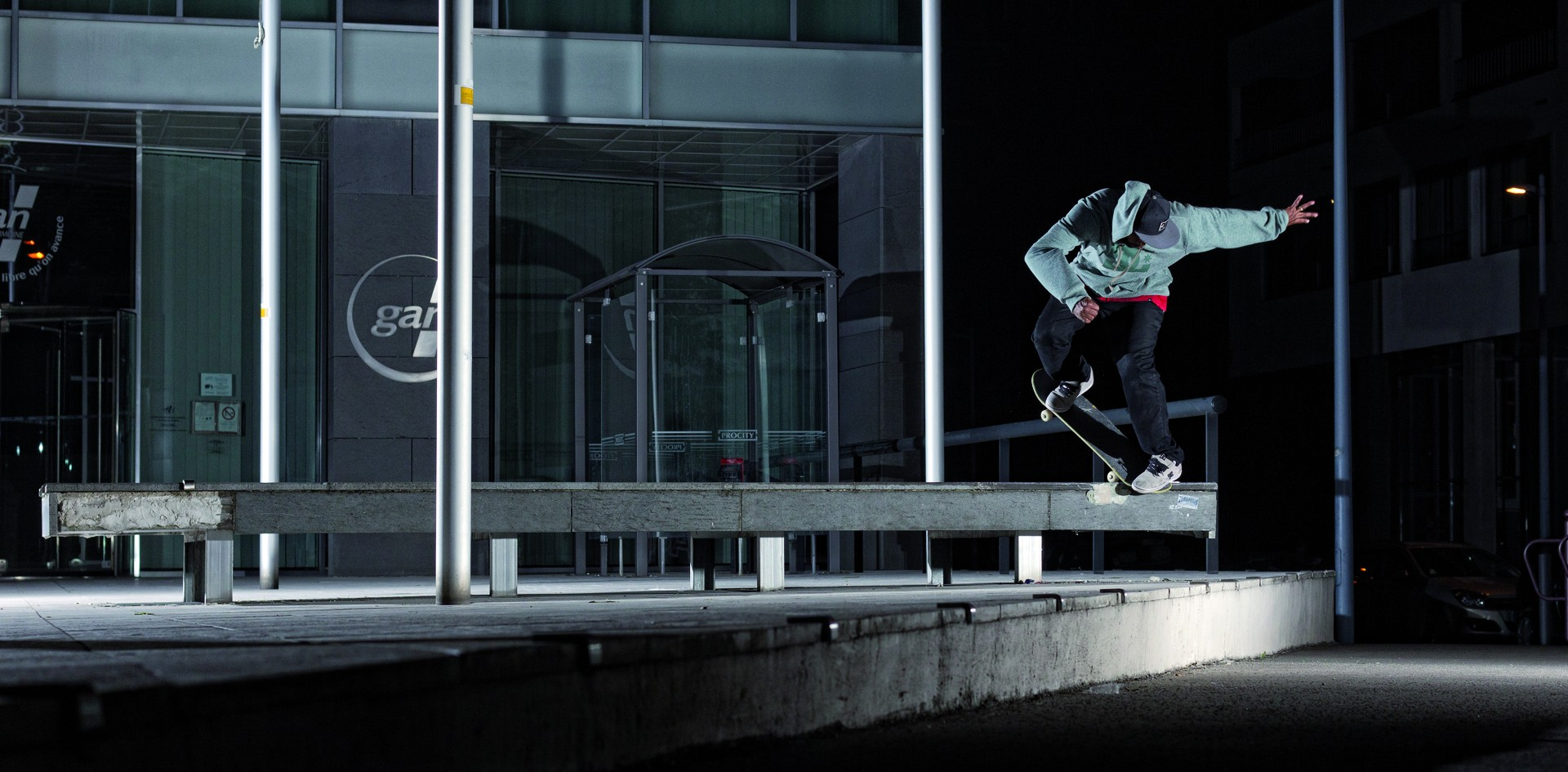 Alex Carolino backside nosebluntslide Lille